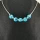 Blue Pumpkin Necklace