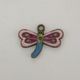 Enameled Dragonfly Charm - Multicolor