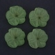 Frosted Acrylic Flower Beads - Green