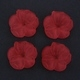 Frosted Acrylic Flower Beads - Red