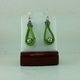 Green Suede Leather Earrings #1