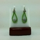Green Suede Leather Earrings #2