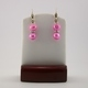 Hot Pink Blister Pearl Earrings