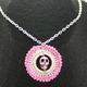 Light Pink Skull Crochet Pendant