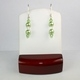 Peridot Pearls with Clear Crystal Swarovski Crystals Earrings