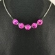 Pink Pumpkin Necklace