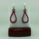 Pink Suede Leather Earrings #2