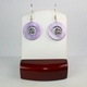 Purple Mother of Pearl with Flower Earrings
