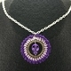 Purple Skull Crochet Pendant