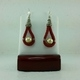 Red Suede Leather Earrings #1