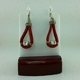 Red Suede Leather Earrings #2