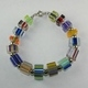 Square Cane Glass Bracelet 2