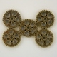 Steampunk Antique Gold Metal Gear Beads