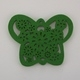 Wooden Butterfly Pendant - Green