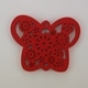 Wooden Butterfly Pendant - Red