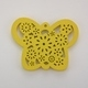 Wooden Butterfly Pendant - Yellow