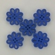 Wooden Flower Button/Bead - Blue