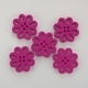 Wooden Flower Button/Bead - Dark Pink