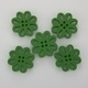 Wooden Flower Button/Bead - Green