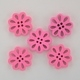 Wooden Flower Button/Bead - Pink