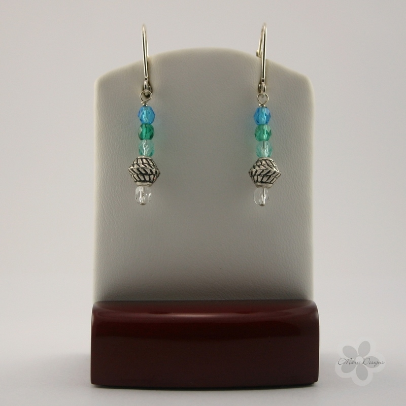 Blue Summer #1 Earrings - Click Image to Close