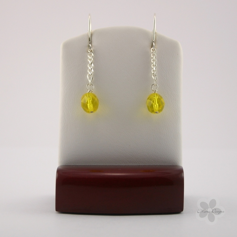 Bright Jonquil Drop Earrings - Click Image to Close