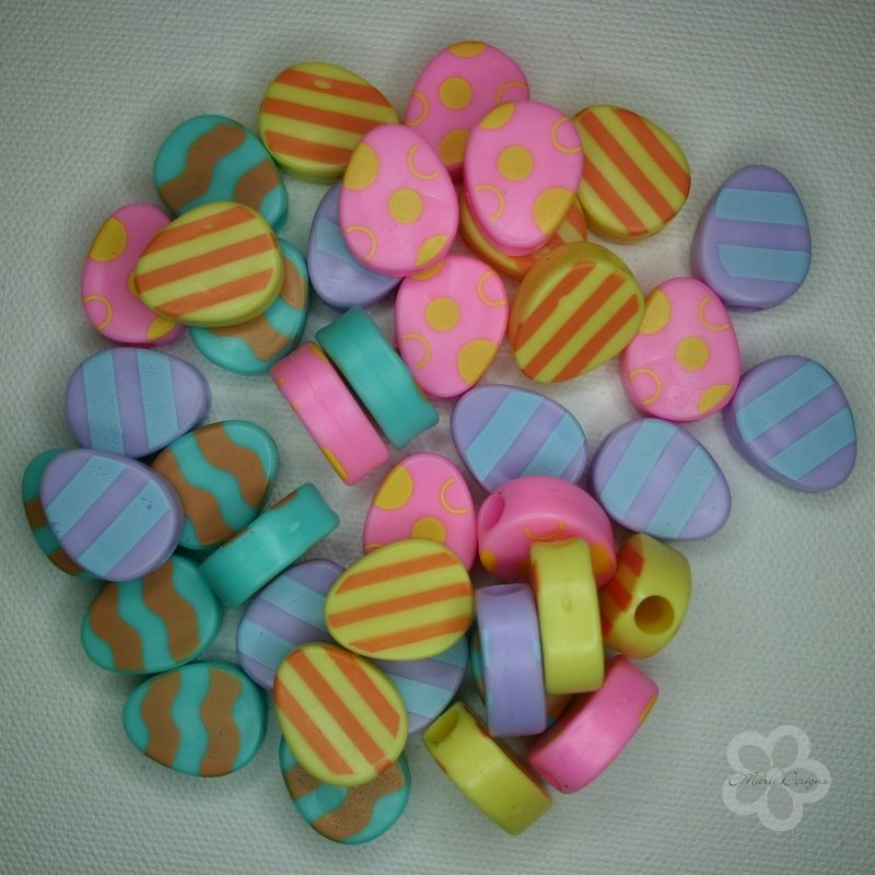 Colorful Plastic Egg Beads - Click Image to Close