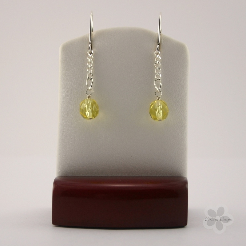 Light Jonquil Drop Earrings - Click Image to Close