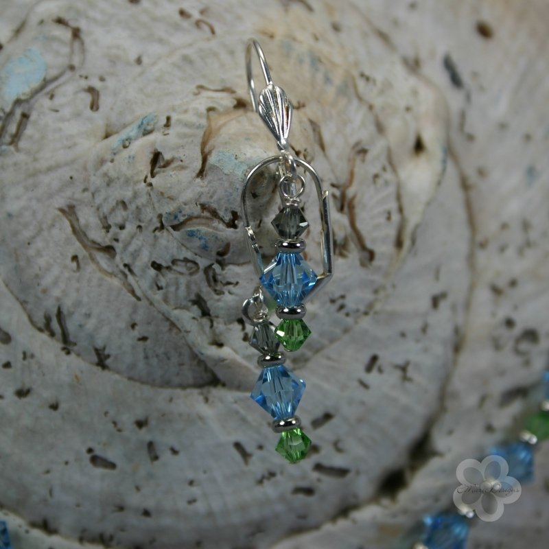 Ocean Foam Swarovski Necklace/Earrings - Click Image to Close