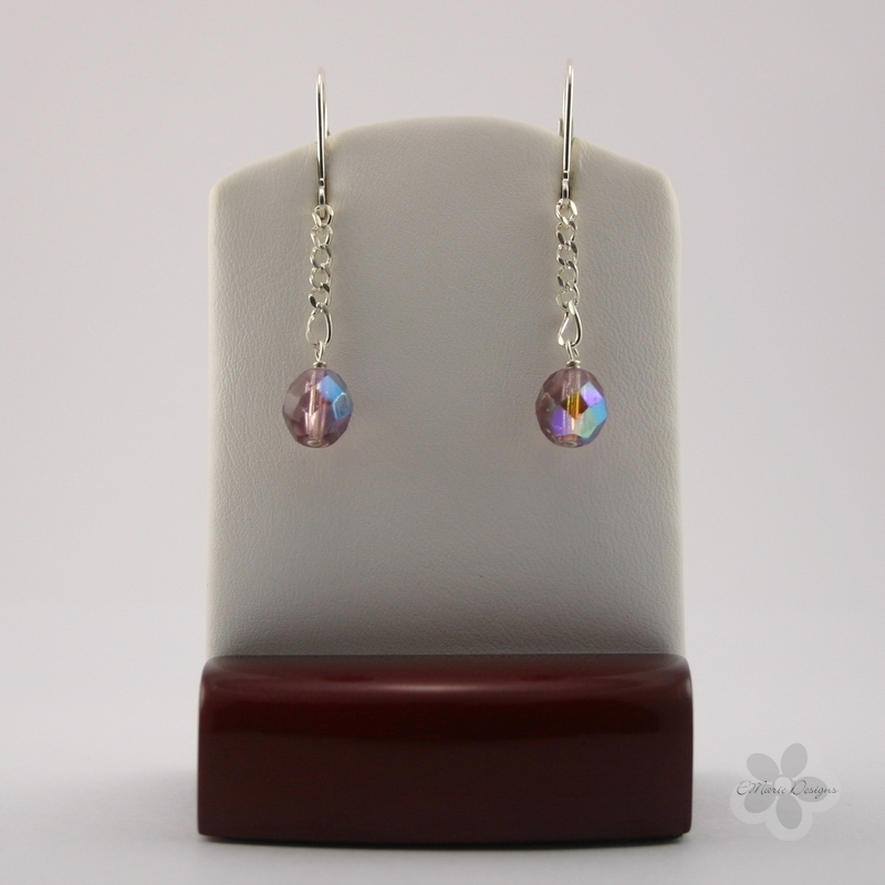 Orchid Luster Drop Earrings - Click Image to Close