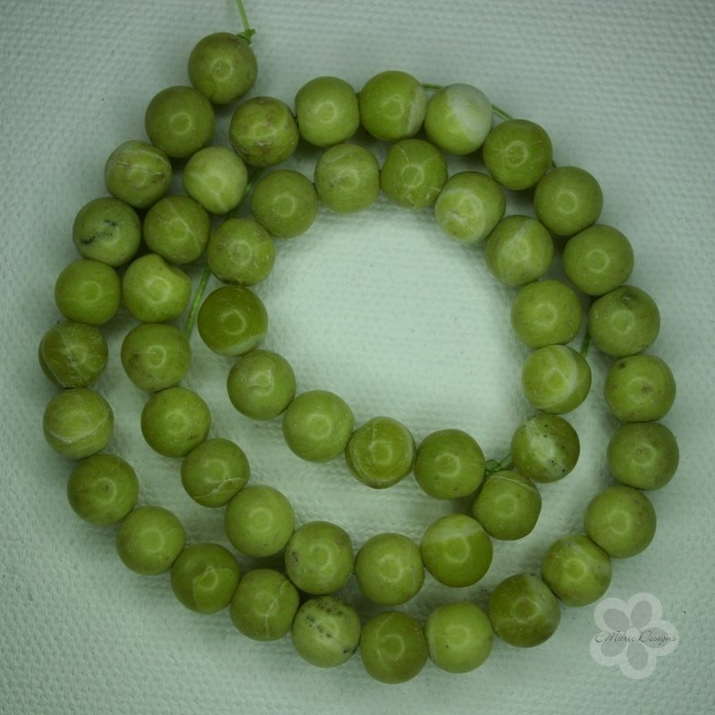 Peridot Jasper Bead Strand - Click Image to Close