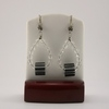Black and White Cane Glass Earrings
