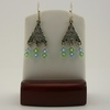 Bohemian Style Aqua/Peridot Swarovski Earrings