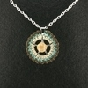 Brown Mother of Pearl Crochet Pendant