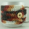 Calico Crochet Coffee Cup Cozie