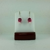 Dark Pink Sugar Skull Earrings