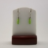 Dainty Green Pressed Glass Earrings