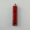 Electric Red Resin Pendant