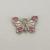 Embellished Butterfly Charm - Pink