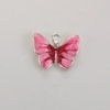 Enameled Butterfly Charm - Pink