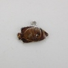 Enameled Fish Charm - Brown