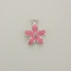 Enameled Flower Charm - Pink