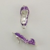 Enameled High Heel Shoe Charm - Purple