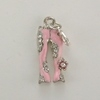 Enameled Hippie Pants Charm - Pink