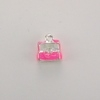 Enameled Jewelry Box Charm - Pink
