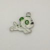 Enameled Puppy Charm - Green