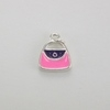 Enameled Purse/Handbag Charm - Purple/Pink