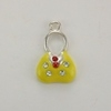 Enameled Purse/Handbag Charm - Yellow