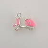 Enameled Scooter Charm - Pink