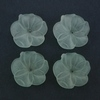 Frosted Acrylic Flower Beads - Blue Green